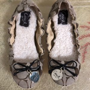 coach shoes ballet house slippers womens 56 small poshmark